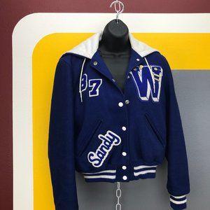 Vtg. Class of 1987 wool ladies letterman jacket